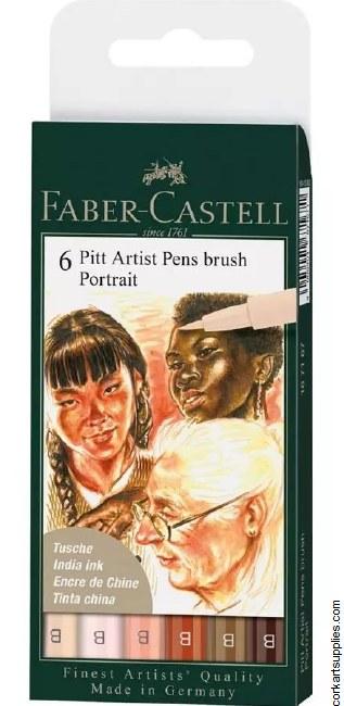 Pitt Brush Pens 6pk Portrait