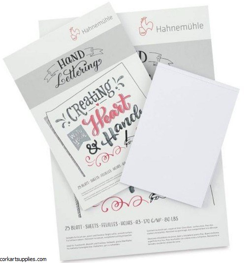 Hahnemuhle A4 Lettering Pad 170gm 25 sheets
