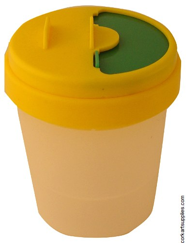 Non-Spill Pot Yellow Lid