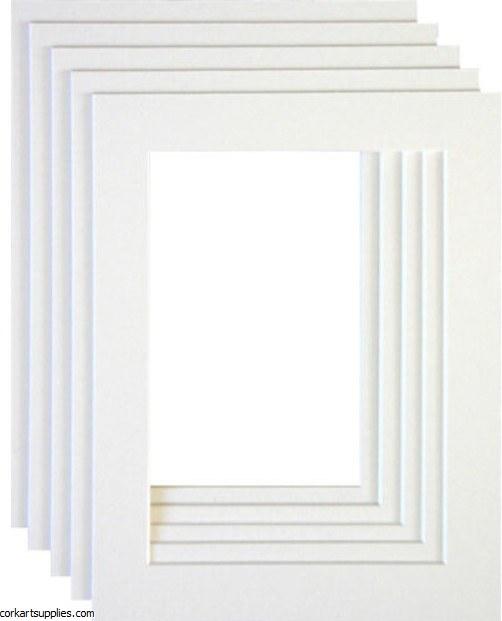 "Mounts 7¾x11¾"" White (outside 20x30, inside 13x18cm)"