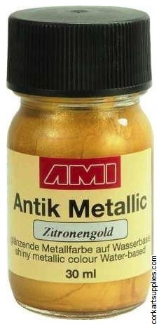 Metallic Paint 30ml - Lemon Gold