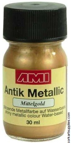 Metallic Paint 30ml - Medium Gold