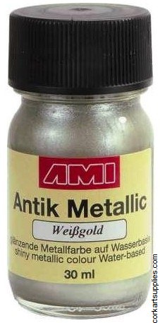 Metallic Paint 30ml - White Gold