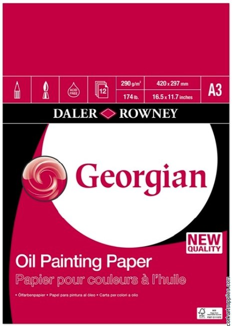 Georgian Oil Pad 290g 12sh A3^