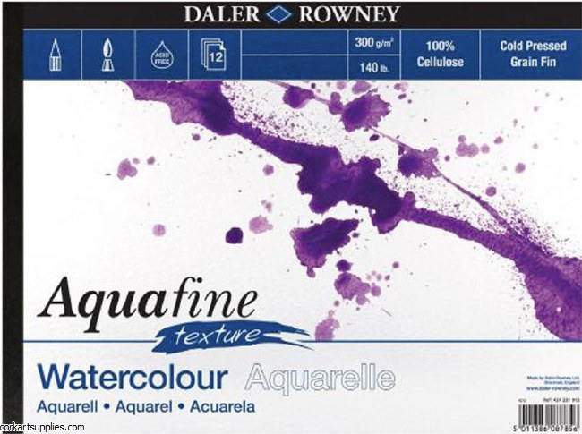 Aquafine Watercolour Pad 10x7