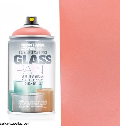 Montana Glass Paint 250ml Coral Red