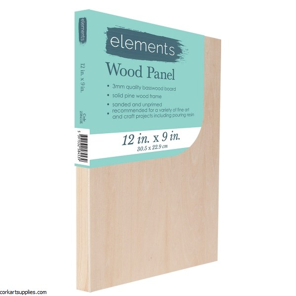 "Wood Panel Elements 12x9"""
