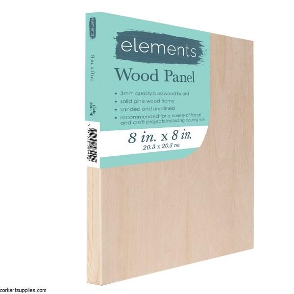 "Wood Panel Elements 8x8"""