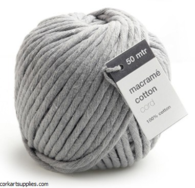 Macrame Cord 5mm 50M Grey