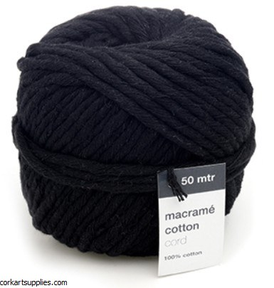 Macrame Cord 5mm 50M Black