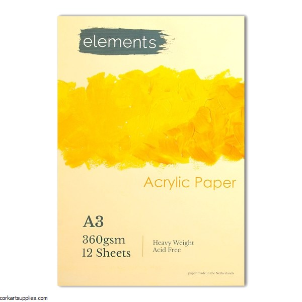 Acrylic Pad A3 Elements 360gm