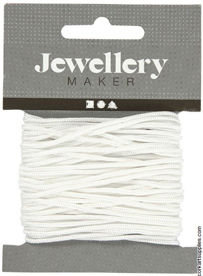 Macrame Cord 2mm White 8m