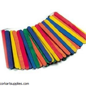 Lolly Sticks 500pk Asst 114x10x2mm
