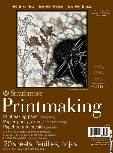 "Printmaking Pad S400 8x10"" Strathmore"