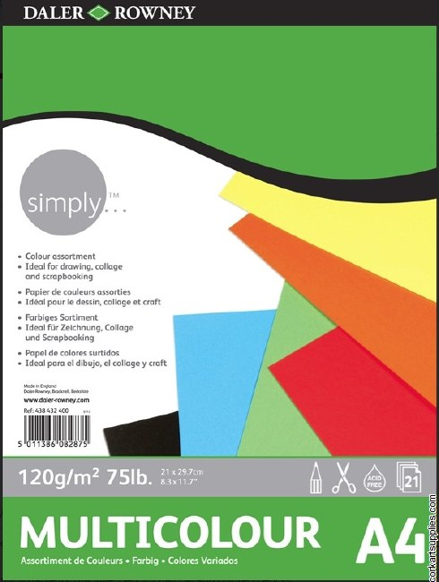 Simply Multicolour 120g Pad A4