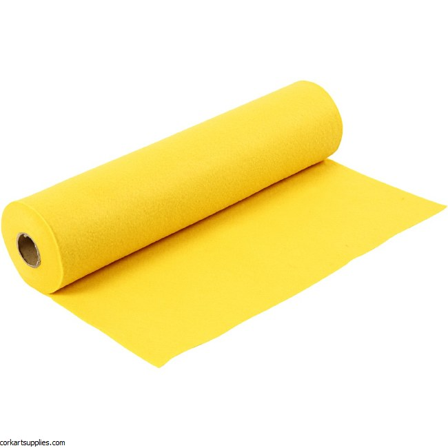 Felt 45cm 1.5mm x 5m Yellow