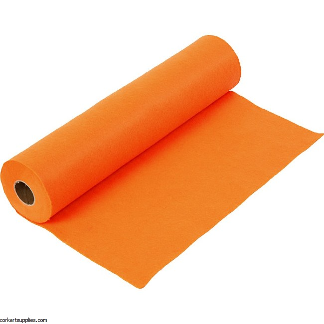 Felt 45cm 1.5mm x 5m Orange