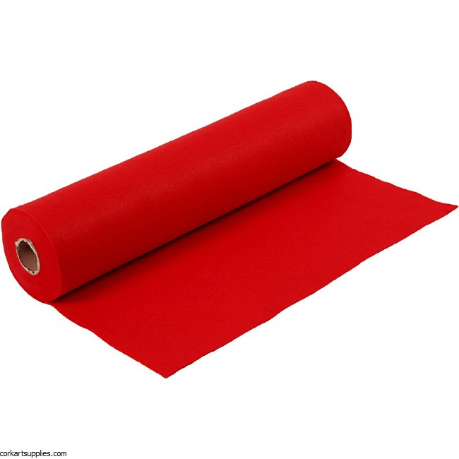 Felt 45cm 1.5mm x 5m Red