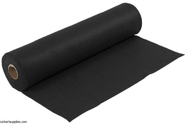 Felt 45cm 1.5mm x 5m Black