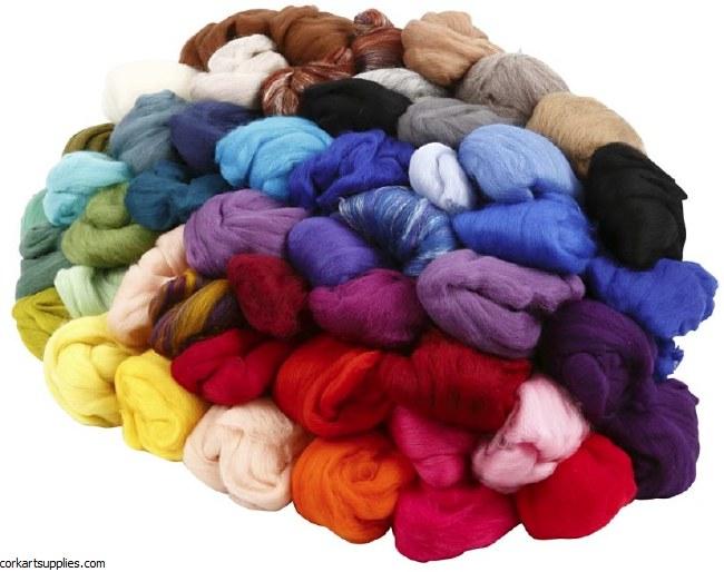 Felting Merino Wool 400g Asst^