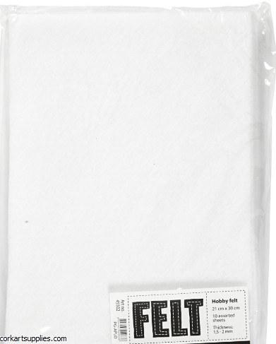 Felt A4 1.5mm White 10pk