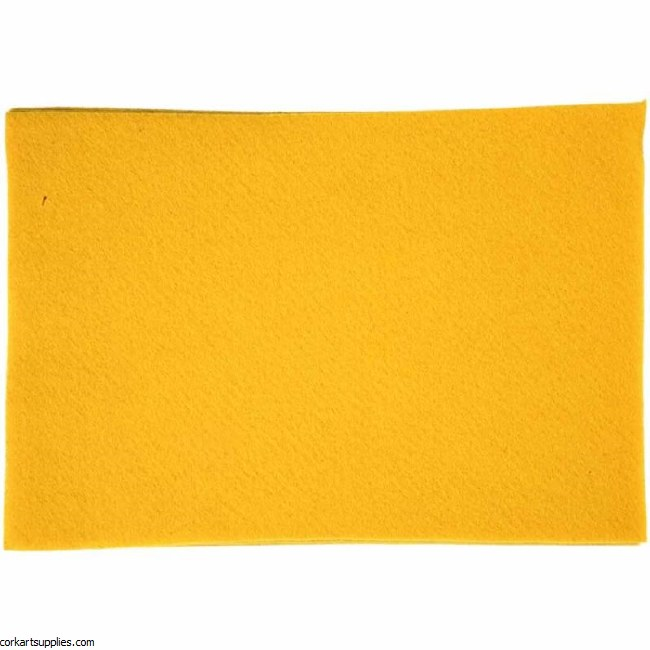 Felt A4 1.5mm Yellow Single