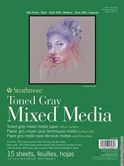 Mixed Media Pad T/Grey 9x12