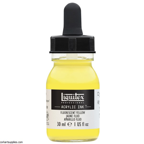 Liquitex Ink 30ml Fluorescent Yellow