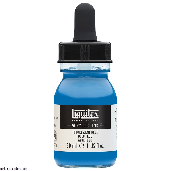 Liquitex Ink 30ml Fluorescent Blue