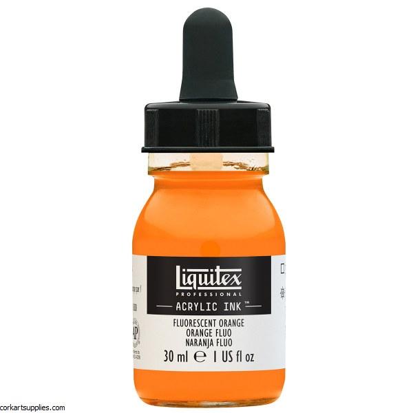 Liquitex Ink 30ml Fluorescent Orange