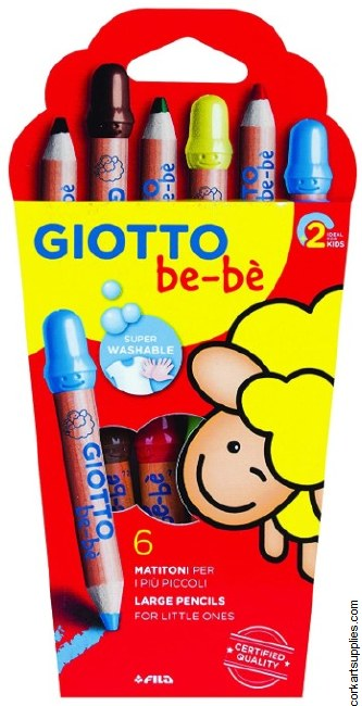 Giotto BEBE Chunky Pencil 6pk