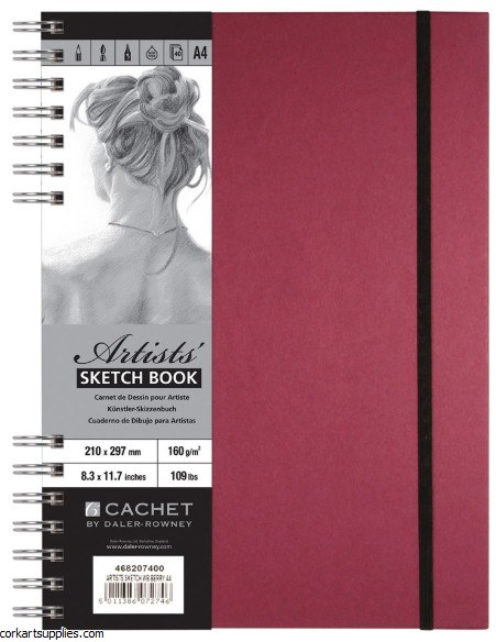 Cachet Spiral Berry Pad 40s A4
