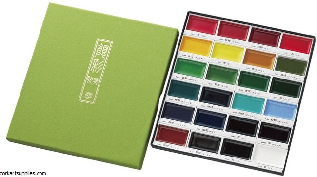 Japanese gansai watercolor set 24pk