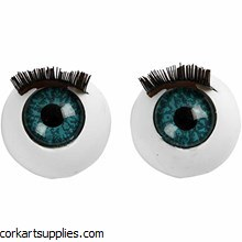 Eyes Blue w/Eyelashes 6pk