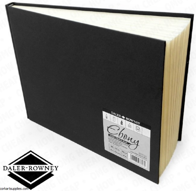 Daler Ebony Hardback 148x130mm Landscape 150gm Cartridge