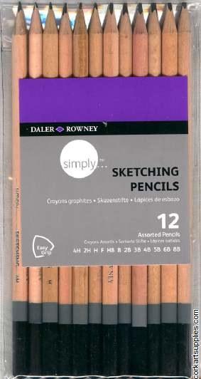 Pencil Simply Asst 12pk