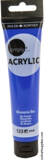 Simply Acrylic 75ml Ultramarine Blue