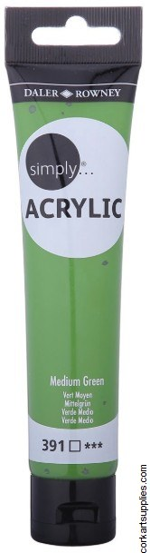 Simply Acrylic 75ml Green Medium