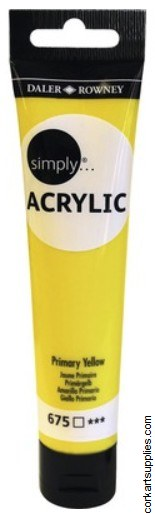 Simply Acrylic 75ml Yellow Primary