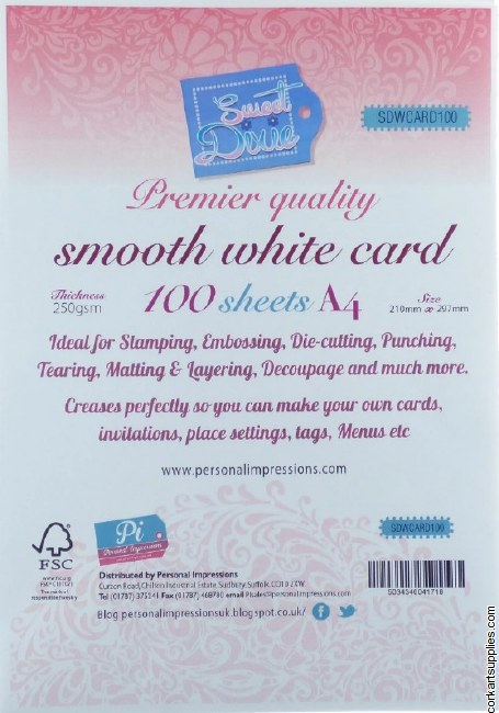 Card Pack A4 White 250g 100pk