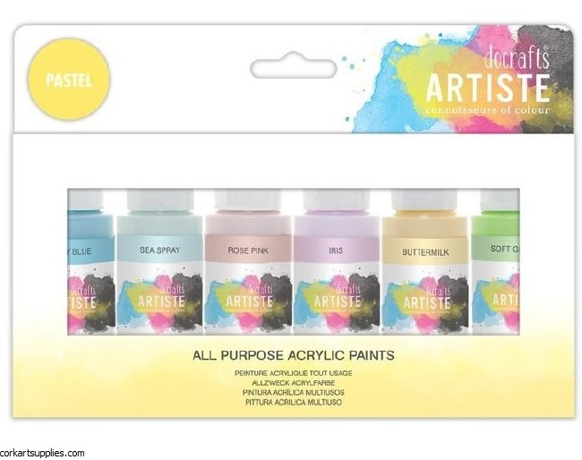 Acrylic 59ml Artiste 6pk Pastel