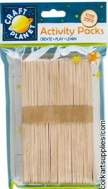 Lolly Sticks 50pk Natural XL