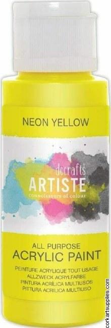 Acrylic 59ml Neon Yellow