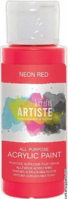 Acrylic 59ml Neon Red