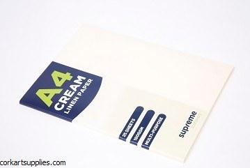 A4 Card 180g Linen Cream 25pk