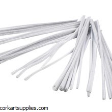 "Pipe Cleaner 12""/6mm Wht 50pk"
