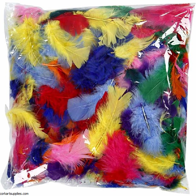 Feathers 100g Marabou Bulk