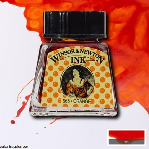 Winsor & Newton Ink 14ml Orange