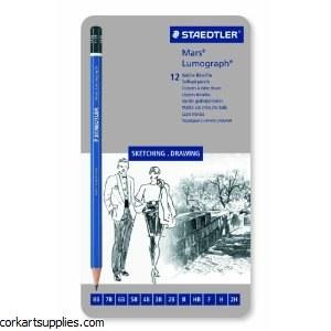 Lumograph Tin Assorted Grades 12 Pack