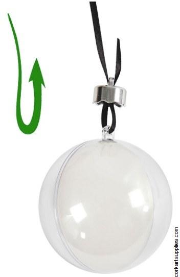 Bauble Clear Ball 80mm
